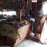 Vendor with merchandise