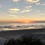 Jacksonville Beach at Sunrise (from the Hampton Inn & Suites Jacksonville Beach Hotel)