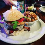 Tipsy Burger and Fried Potato Salad w/ SweetWater Brew