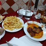 Meat lovers had the spicy very garlic chicken and chips