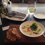 Salmon gnocci & Chardonnay