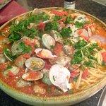 Cladio's seafood pasta