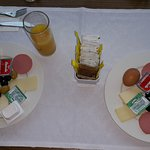 Breakfast, the bread and jelly yet to come