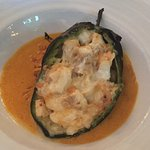 fish and shrimp chili rellano