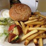 Calabacitas rebozadas para acompañar la hamburguesa
