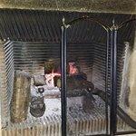 La flambée dans la cheminée du salon