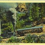 Early 20th century postcard of Pikes Peak Cog Railway