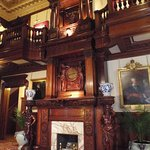 One of the many fireplaces in the mansion