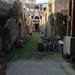 The catacombs at the Colosseum