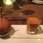 Lobster Slider and Smoked Tomato Soup