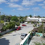 rooftop lounge view of avenida tulum at calle luna sur