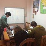 A typical class at the Academia Latinoamericana de Espanol