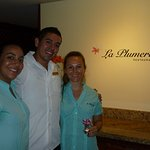 Armando, manager, with staff members.