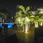 Night view of the pool side