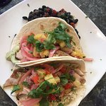 Tacos with black beans