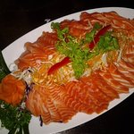 Crying Tiger with Salmon Sashimi