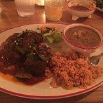 Costillas Reyes and beef fajitas