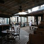 Outdoor eating and bar areas