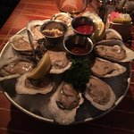 Bay Oysters on the half shell, the mignonette was strange.