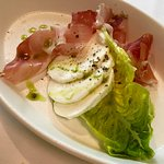 Buffalo mozzarella and ham