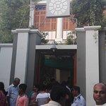 Ashram entrance.