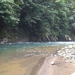 A short walk upstream