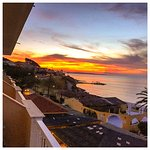 Room with a view of the fabulous sunset.