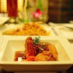 Pla Samunprai- crispy red snapper (a type of fish) with tamarind sauce