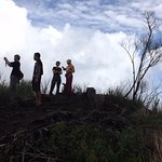 We reached the highest point of Empung volcano crater.