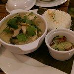 Suppe und gelbes Curry