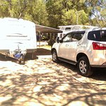 This is our Caravan and our car on site