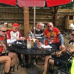 Cyclists at Packer Saloon