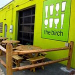 Patio seating at The Birch