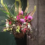 Weekly Women's Council Flower Arrangement at the Entrance of Museum