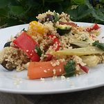 Roasted vegetable and couscous salad  at The Pump House, Royal Clarence Yard, Gosport