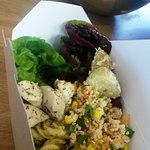 Takeaway salad box  at The Pump House, Royal Clarence Yard, Gosport