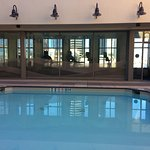Exercise room is just beyond pool