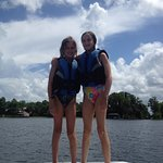 Learning to wakeboard!
