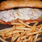 the chicken parmesan sandwich is the best