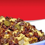 Our Combo Meal: Our Famous BBQ Pork #Nachos and a regular Coke.