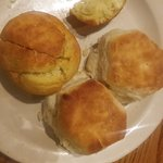 Biscuits and corn muffins