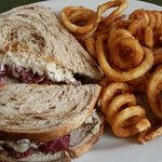 Reuben with curly fries