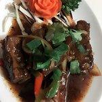 I like to eat at Thailand Bualuang especially thai fish cakes, crispy thai dim sum, pork spare r