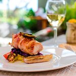 Fine Dining Entrée at The Courtyard at Surfsong, BVI