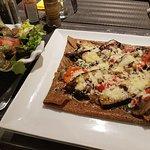 Crêpe végétarienne aux légumes grillés maison, et crêpe trois fromages !