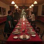 lovely christmas dinner setting