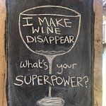 Obsidian Winery chalk board