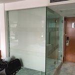 Shower & toilet glass cube