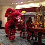 Chinese New Year celebrations in the foyer:)