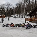 More snowmobiles than cars, in the wintertime !
